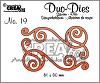 Crealies Duo Die no. 20 Swirls 1 - CLDD20