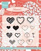 Clearstamp Hearts