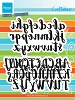 Craftables brush alphabet - CR1416