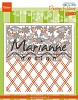 Design folder deluxe Anjas flower border - DF3444