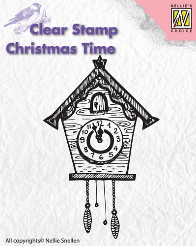 Clear stamp Christmas Time Clock