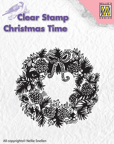 Clear stamp Christmas Time Wreath