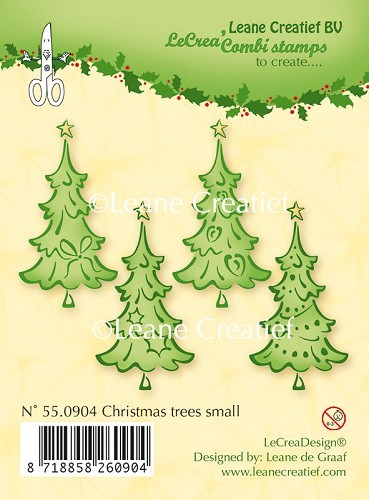 Clear stamp Christmas trees small