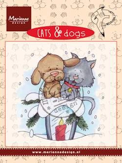 Clear stamp cats & dogs candle light