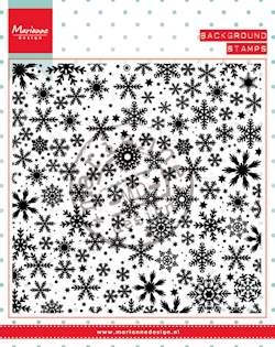 Clear stamp ice crystals