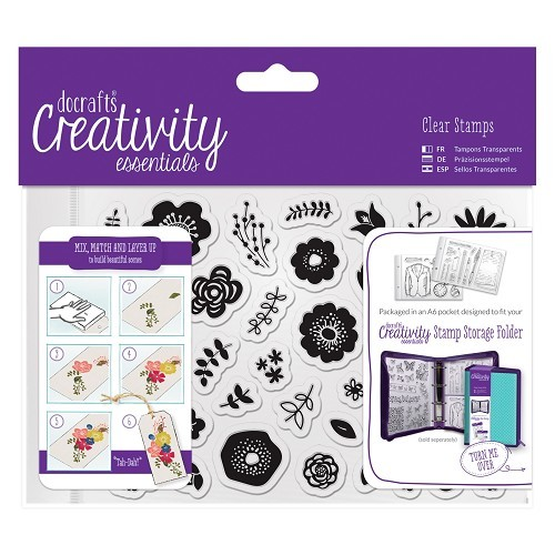 A-6 clearstamp set Folk Floral