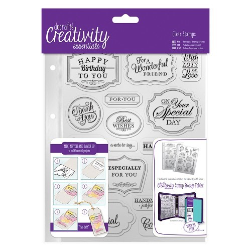 A-5 clearstamp set Trad Sentiment