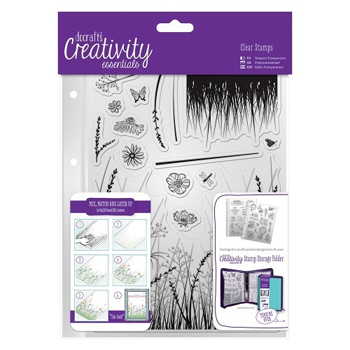 A-5 clearstamp set Meadow