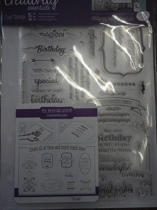 Clearstamp set Birthday verses ( 39pcs)