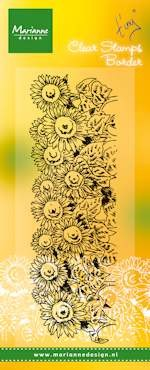 Clearstamp Tiny`s border-sunflower