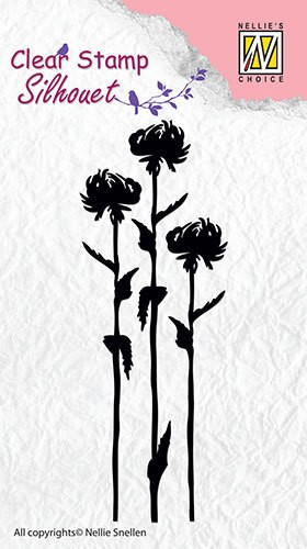 Clear stamp Silhouet Flower 7