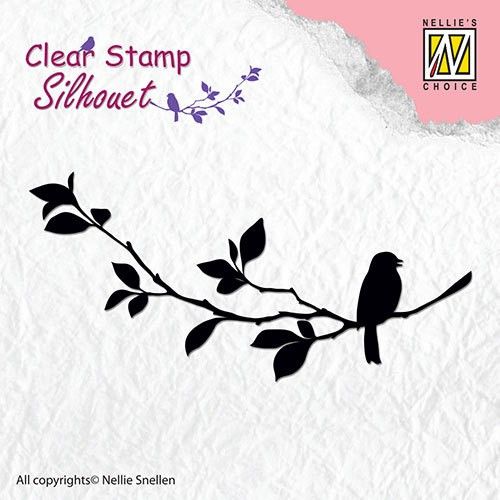 Clear stamp Silhouet Birdsong 1