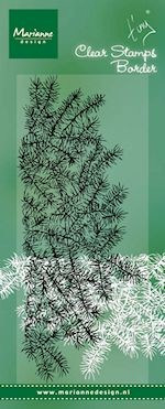 Clear stamp Tiny`s border pine tree branches
