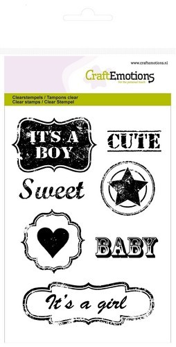 Clearstamp Vintage baby text