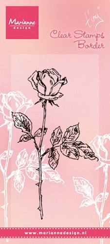 Clearstamp Tiny`s single rose