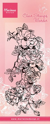 Clearstamp Tiny`s border roses