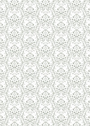 Basic Collection A4 200gr Vintage Green Damask