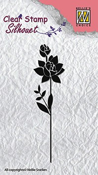 Clear stamps flower silhouettes