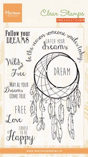 Clearstamp dreamcatcher sentiments