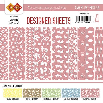 Card Deco - Designer Sheets -Sweet Pet- Dusty pink