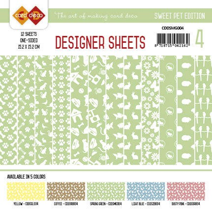 Card Deco - Designer Sheets -Sweet Pet- Spring green