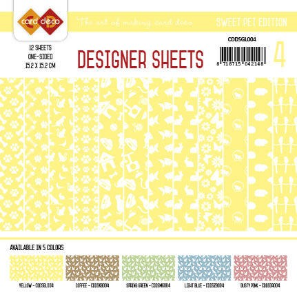 Card Deco - Designer Sheets -Sweet Pet- Yellow