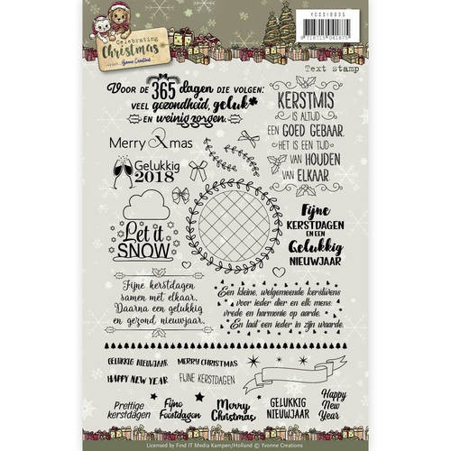 Clearstamp Celebrating Christmas tekst