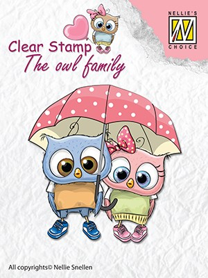 Clearstamp the owl Family: Walking in the rain