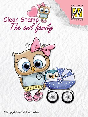 Clearstamp the owl Family: Mother with baby