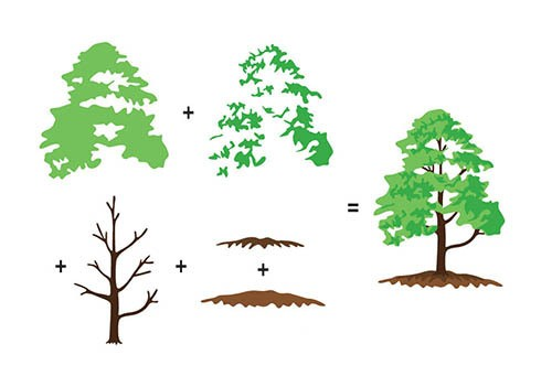 3D clearstamp: Trees