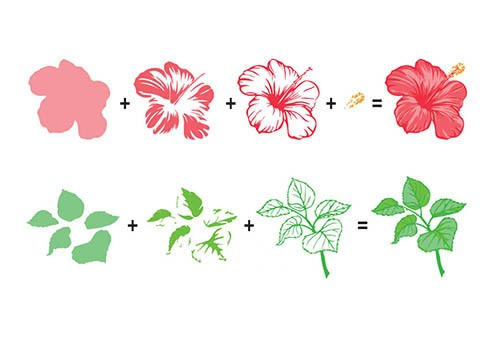 3D clearstamp: Flowers
