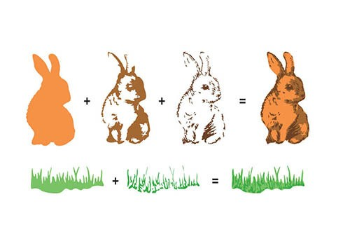 3D clearstamp: Rabbits