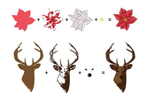 3D clearstamp: Reindeer