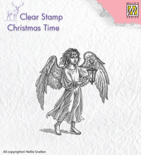 Clearstamp : Angel with lantern