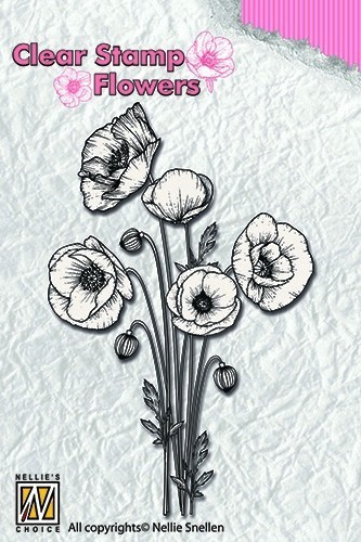 Clearstamp flowers: Poppies