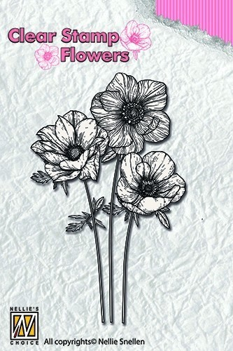 Clearstamp flowers: Anemones