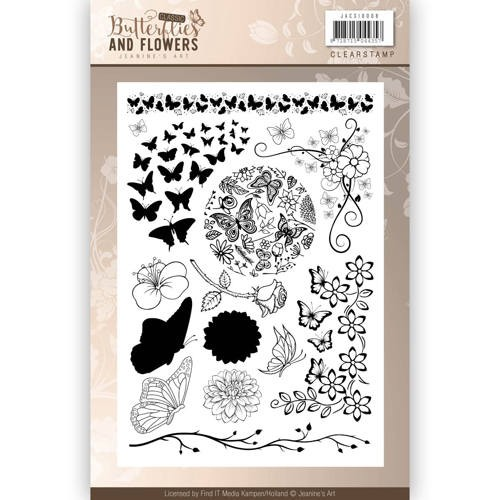 Butterflies & Flowers Clearstamp afbeeldingen