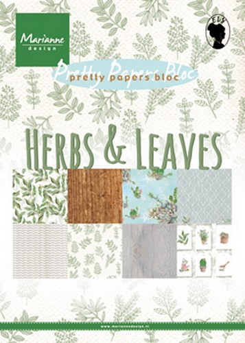 Pretty papers bloc Herbs & Leaves